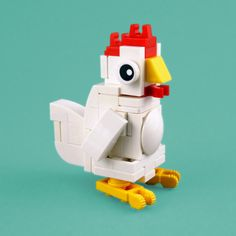 When I was searching for a cuddly toy for my little nephew I was surprised to see the enormous variety in cuddly toys. This inspired me to make small LEGO versions. The second build is a chicken. Lego Technic, Lego Duplo, Lego Friends, Zoo Lego, Custom Puppets, Lego Sculptures, Micro Lego, Lego Blocks, Cool Lego Creations