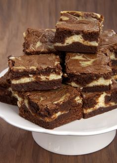 Bourbon Cream Cheese Brownies {Plus a Divine Chocolate Giveaway} | Bake or Break