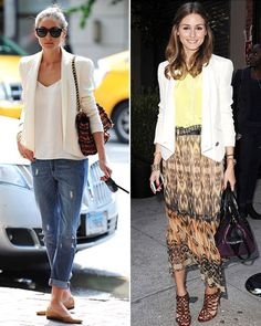 Olivia Palermo's Ivory Blazer - Recycling Fashion: How Stars Re-Wear and Re-Style Pieces - What's Right Now - Fashion - InStyle