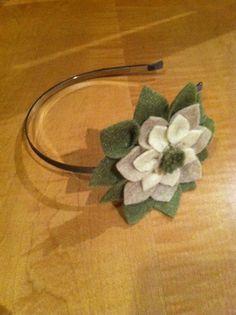 Super cute felt flower headband :)     $10