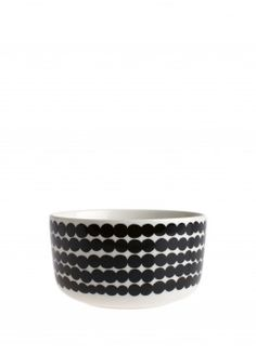 Porcelain by Marimekko. Räsymatto-bowl, original pattern by Maija Louekari.