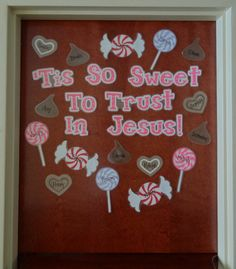 valentine bulletin board ideas preschoolers | Christian Valentine's Day Door Display and Bulletin ... | Bible Class