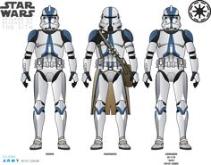 Star Wars Clone Wars, Star Wars Art, Star Wars Droids, Lego Star Wars, Star Wars Characters, Star Wars Episodes, Clone Trooper Helmet, 501st Clone Trooper, Star Wars Commando
