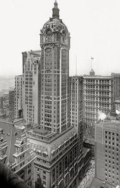 archimaps: The Singer Building in 1913, New York   Colbytrax Boneyard