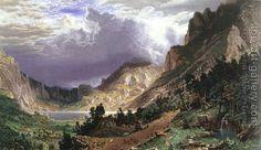 Albert Bierstadt : Storm in the Rocky Mountains, Mt Rosalie