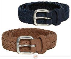 f3511f413fc Anderson Woven Suede Belts Men s Wardrobe