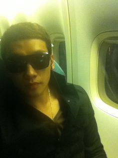 Rain on the plane. He'd landed in NYC and was ready for the TIME 100 Gala. (Image credit: @29rain)