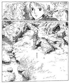 dezaki Studio Ghibli Art, Studio Ghibli Movies, Comics Illustration, Illustrations, Hayao Miyazaki, Manga Art, Anime Art, Personajes Studio Ghibli, Inspiration Artistique
