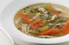 Hearty Chicken Vegetable Soup Recipe - I made this and added sweet corn kernels and used 3 cups of homemade chicken stock & one cup water. It was delicious! Vegetable Soup With Chicken, Vegetable Soup Recipes, Chicken Soup Recipes, Chicken And Vegetables, Veg Soup, Celery Recipes, 17 Day Diet, Cooking Recipes, Healthy Recipes