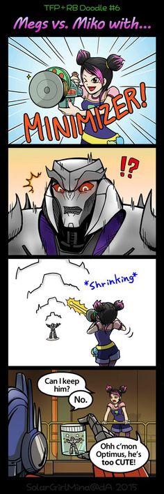 Can we keep him Optimus? XD Oh Primus: