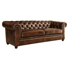 Abbyson Living Keswick Tufted Leather Sofa (Target)