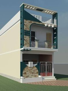 Top 30 Modern House Design Ideas For 2020 - Engineering Discoveries House Outer Design, House Front Design, Small House Design, Modern House Design, Village House Design, Bungalow House Design, Narrow House Designs, Front Elevation Designs, House Elevation