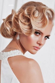 18 Utterly Gorgeous Vintage Wedding Hairstyles ❤ See more…