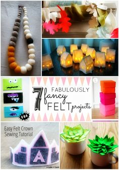7 Fabulously Fancy Felt Projects