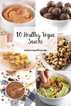 10 amazing, healthy, vegan, snack ideas. Honestly, I couldn't tell you which one of these recipes I love the most, so you'll have to try them all!