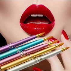 Herramientas de Maquillaje De fantasía Mujeres MU-216 Cosméticos Brillo De Labios Pincel De Labios Retráctil Portátil Envío de La Gota