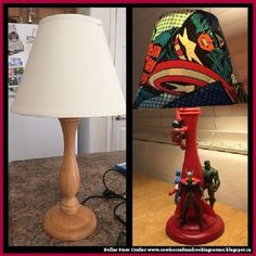 Dollar Store Crafter: Turn A Thrift Store Lamp Into A Superhero Piece Of...