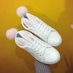 "White bunny ear sneaker SE9803 Coupon code ""cutekawaii"" for 10% off"