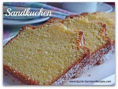 Sandkuchen (The Best German Pound Cake) Recipe (Quick Cake Recipes) German Desserts, Just Desserts, Delicious Desserts, Dessert Recipes, German Pound Cake Recipe, Pound Cake Recipes, German Cake, Pound Cakes, Austrian Recipes