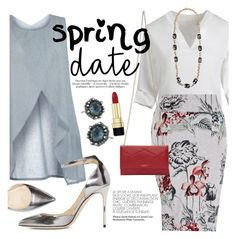 """""""Spring Date"""" by ivansyd ❤ liked on Polyvore featuring Isolde Roth, Melissa McCarthy Seven7, Lanvin, Dsquared2, Jimmy Choo, Alexis Bittar, Dolce&Gabbana and plus size clothing"""