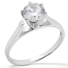 Effortless beauty! Taryn Collection Palladium Diamond Engagement Ring TQD 5932 for about $660