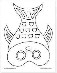 Risultati Immagini Per Fish Mask Printable