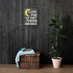 I love you to the moon and back 16x20 Canvas Print | Netties Expressions