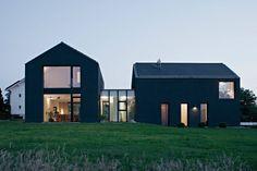 Modern single family residence located in Friedrichstal, Germany, designed by Thomas Fabrinsky Freier.