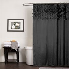 Lillian Black Shower Curtain Lush Decor Shower Curtains Bath Accessories Bath
