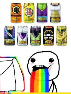 Dragonball Drinks.....WANT THEM NOW