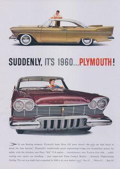 1956 Plymouth classique Ad 1960 Plymouth futuriste par AdVintageCom