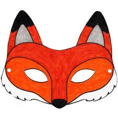 Masque renard à imprimer