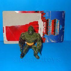 VINTAGE 1981 80s MATTEL MOTU HE-MAN (HEMAN) MOSS MAN FIGURE COMPLETE + CARD BACK in Juguetes, Figuras de acción, TV, cine y videojuegos | eBay