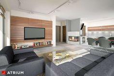 Wnętrze projektu Polo - wizualizacja 1 Minimal House Design, Simple House Design, Minimal Home, Home Building Design, Building A House, Design Case, Architecture Plan, Home Fashion, Home Crafts