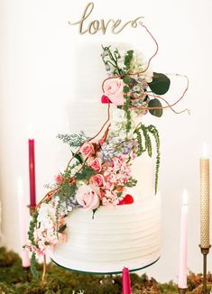Romantic Midsummer Nights Dream wedding cake