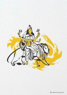 Skandmata 5th Swaroop of Durga Out of 9 Swaroop By Artist Mahendra Nagvanshi