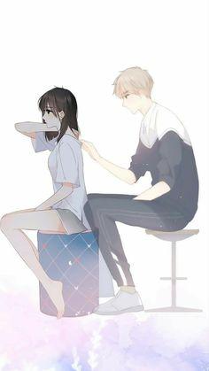 Anime Chibi, Kawaii Anime, Anime Cupples, Anime Girl Cute, Anime Art Girl, Manga Art, Anime Couples Drawings, Anime Couples Manga, Anime Angel