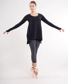 Lululemon Rehearsal long sleeve in black size 8
