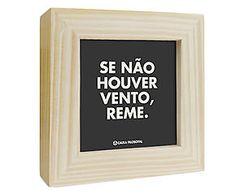 Box decorativo se não houver vento, reme nuit - 13,5x13,5cm