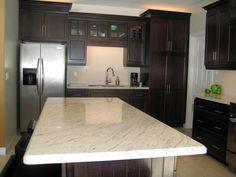 Kashmir White Granite Kitchen Countertop Island Finished Installed Granix 2