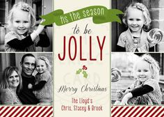 Jolly Holiday Photo Card