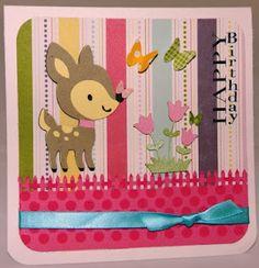 Happy Birthday Deer Card