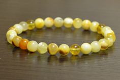 Natural Baltic amber bracelet, Amber bracelet, amber jewelry, natural amber stone, amber ball, amber beads, Multicolored amber.
