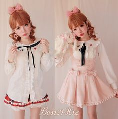 >> Click to Buy << Princess sweet lolita shirt BOBON 21 original design Peach heart embroidery Peter pan Collar shirt Attached of the bow tie T1109 #Affiliate