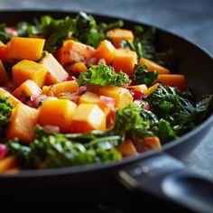Recipes   Roasted Squash and Kale Salad with Pomegranates   Sur La Table