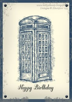 Dr Who Birthday Card