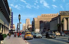 Wilshire Blvd - Miracle Mile 1950s, Los Angeles, California by A Box of Pictures, via Flickr