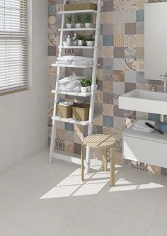 PORCELAIN TILES: ALPHA | VIVES Azulejos y Gres S.A. #porcelain #tile #bathroom