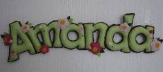 Nome em feltro | Lili Mosaico & Artesanato | 1982D1 - Elo7