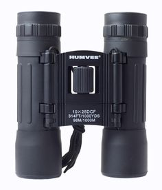 Humvee 10x25 Compact Binocular - Black - Detailed Product Description: 10x25 Compact Binocular, ruby red glass lenses, Black rubber coating, no-slip grip, carrying case, neck lanyard, lens cleaning clothThe HUMVEE 10X25 Black Rubber Coated Compact Binocular combines innovation, technology and cutting-edge design to provide optical excellence with an exceptional value. This binocular has a 10x magnification, 25mm objective lens diameter, 304-foot field of view at 1000-yards and is designed…
